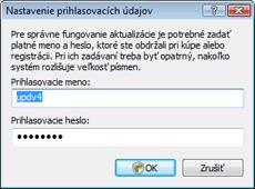 Nod32 ea settings update username Nastavenie prístupového mena a hesla