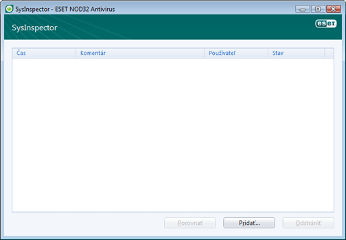 Nod32 ea sysinspector window ESET SysInspector   nové okno