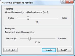 Nod32 ea config desktop Nastavitve obvestil na namizju