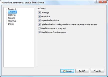 Nod32 ea config method Možnosti