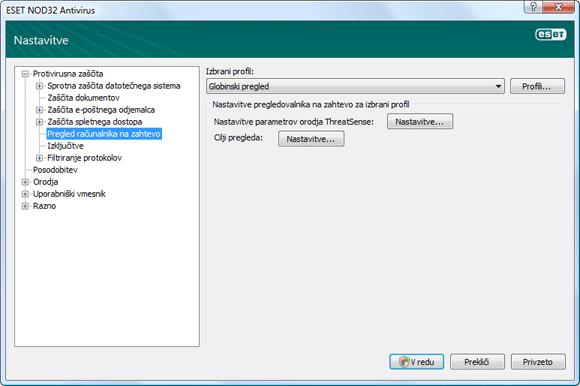 Nod32 ea config scan Pregled računalnika na zahtevo