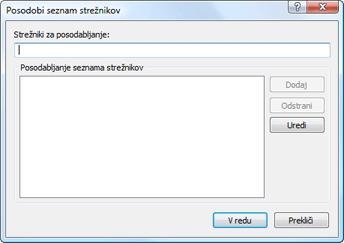 Nod32 ea config update servers Posodabljanje seznama strežnikov