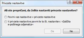 Nod32 ea default2 Privzete nastavitve 2