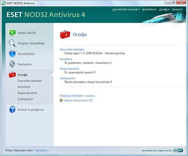 Nod32 ea page tools Orodja