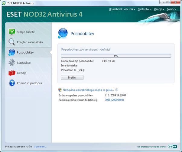Nod32 ea page update 02 Posodobi