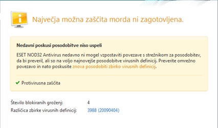 Nod32 ea page update 05 Posodobi