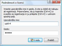 Nod32 ea settings update username Vnos uporabniškega imena in gesla