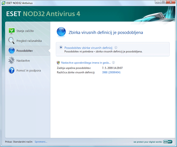 Nod32 ea update main Posodobi