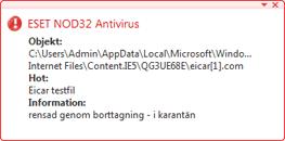 Nod32 ea antivirus behavior and user interaction Funktioner för virusskydd och användarinteraktion