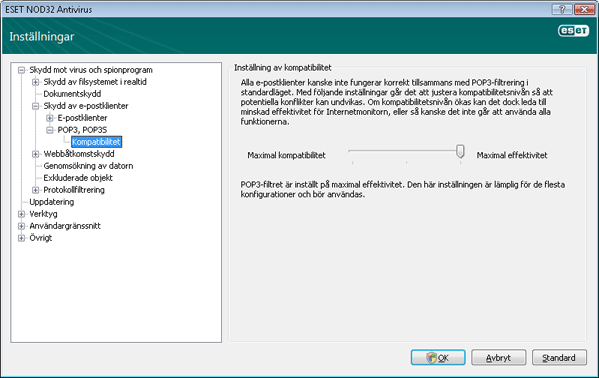 Nod32 ea config epfw scan pop3 comp Kompatibilitet