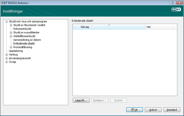 Nod32 ea config exclude Undanta