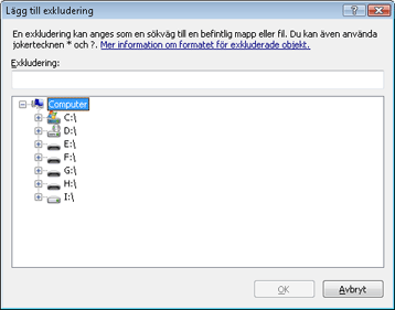 Nod32 ea exclude Lägg till eller redigera exkluderingar