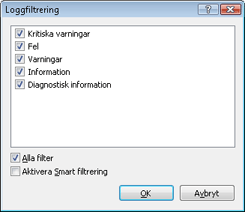 Nod32 ea log filter Loggfiltrering