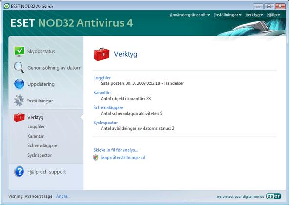 Nod32 ea page tools Verktyg