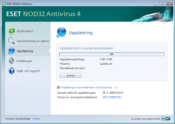 Nod32 ea page update 02 Uppdatering