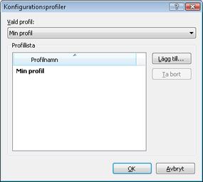 Nod32 ea profile manager Profilhanteraren