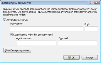 Nod32 ea proxy server Inställning av proxyserver