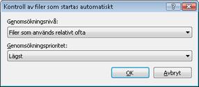 Nod32 ea startup app Kontroll av filer som startas automatiskt