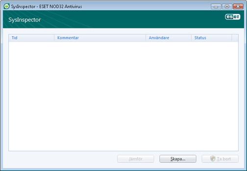 Nod32 ea sysinspector window ESET SysInspector – nytt fönster