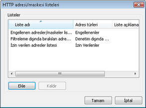 Nod32 config epfw url set manager HTTP adresi/ maskesi listeleri