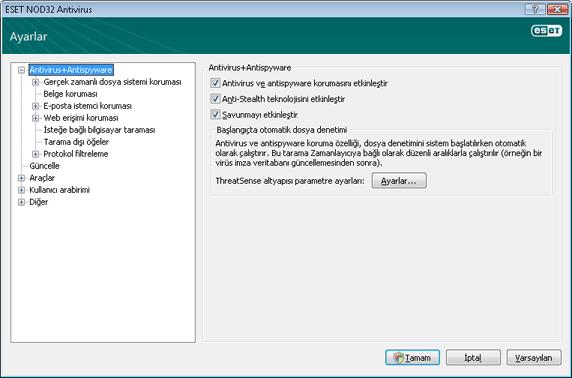 Nod32 ea config antivirus Virüsten koruma ve casus yazılımdan koruma   Kurulum