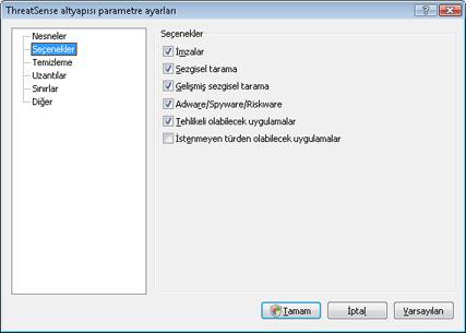 Nod32 ea config method Seçenekler