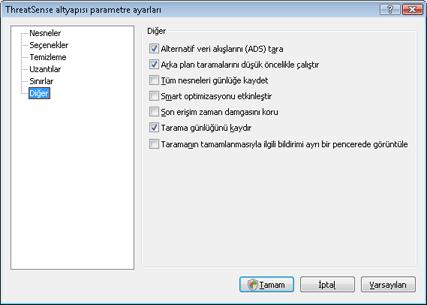 Nod32 ea config scanner scan Tarama kurulumu