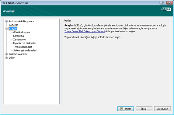 Nod32 ea config tools Araçlar