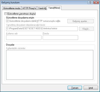 Nod32 ea config update mirror Yansıtma