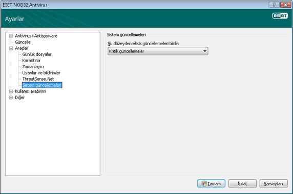 Nod32 ea config windows update İşletim sistemi güncelleme   ayarlar