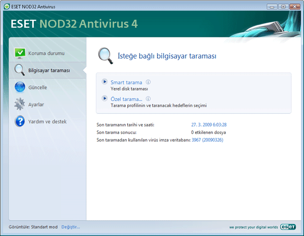 Nod32 ea scanner main Bilgisayar taraması