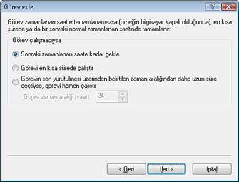 Nod32 ea scheduler notstart Görev ekle   görev çalışmadıysa