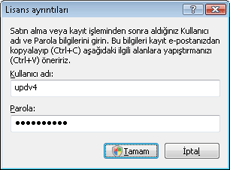 Nod32 ea settings update username Kullanıcı adını ve parolayı girme