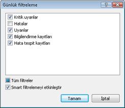 Nod32 log filter Günlük filtreleme
