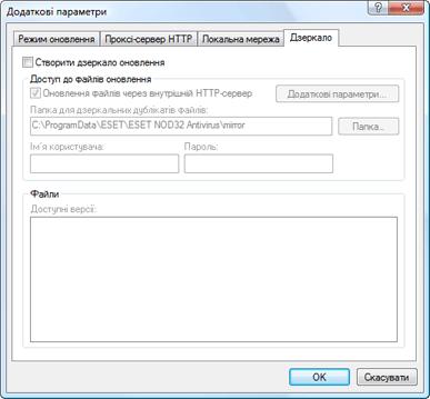 Nod32 ea config update mirror Створення Дзеркала оновлення