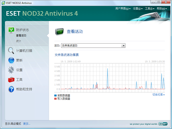 Nod32 ea page activity 查看活动