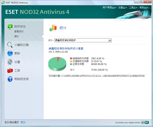 Nod32 ea page statistic 统计