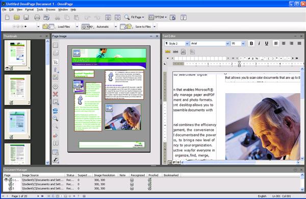Omnipage eng desktop The OmniPage Desktop
