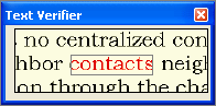 Omnipage eng verifier contacts2 Verifying text