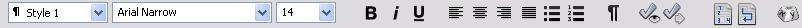 Omnipage tb formatting Formatting toolbar