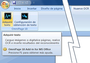 Omnipage eng word%202007%20vista Uso de Direct OCR