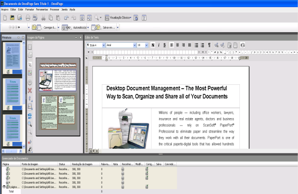 Omnipage eng desktop Área de Trabalho do OmniPage