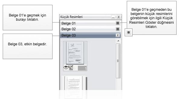 Omnipage eng thumbnails diagram Birden çok belgenin idaresi hakkında