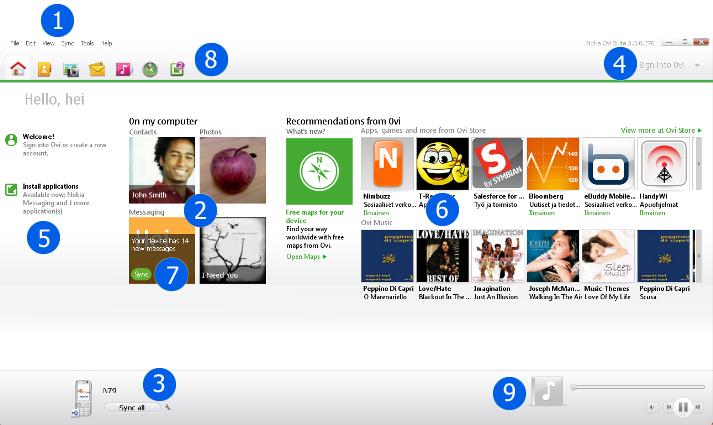Ovi Nokia NOS Home3 Prehľad Nokia Ovi Suite