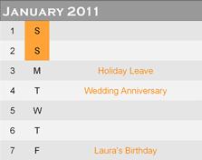PagePlus calendar02 Inserting a calendar