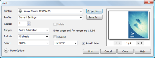 PagePlus dlg print Printing basics