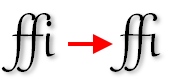 PagePlus opentype ligatures Using fonts