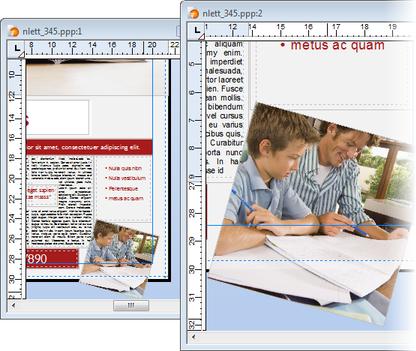 PagePlus publication windows Using publication windows