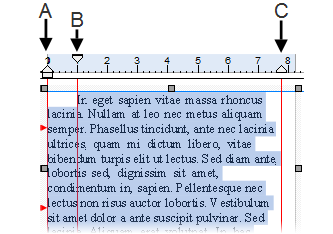 PagePlus rulers4 annotate Editing text on the page