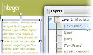 PagePlus select fromlayers Selecting an object